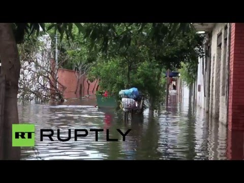 Paraguay: State of emergency declared as Asuncion is submerged in floodwater