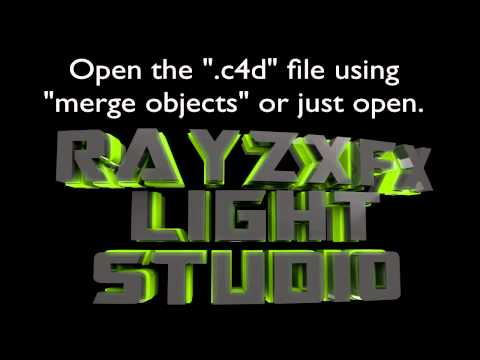 [Cinema 4D] Light Studio + INSTRUCTIONS on How to Install!