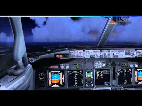 Virtual Flying - Goteborg  (ESGG Sweden) Approach & Landing on Vatsim network + FSX