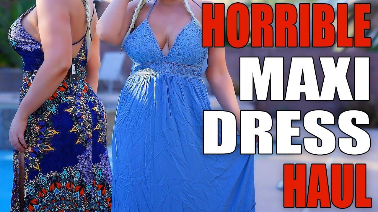 Unflattering Fashion Nova Maxi Dress Haul! QQ