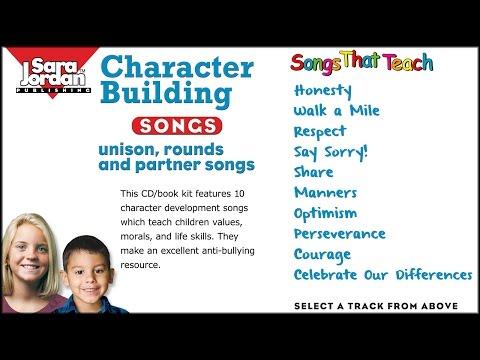 Character Building Songs | Sara Jordan Publishing