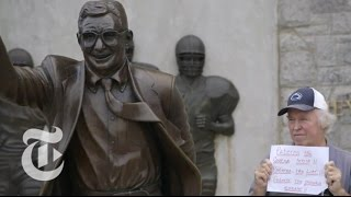 We Are Penn State: Standoff at Joe Paterno's Statue | Op-Docs | The New York Times