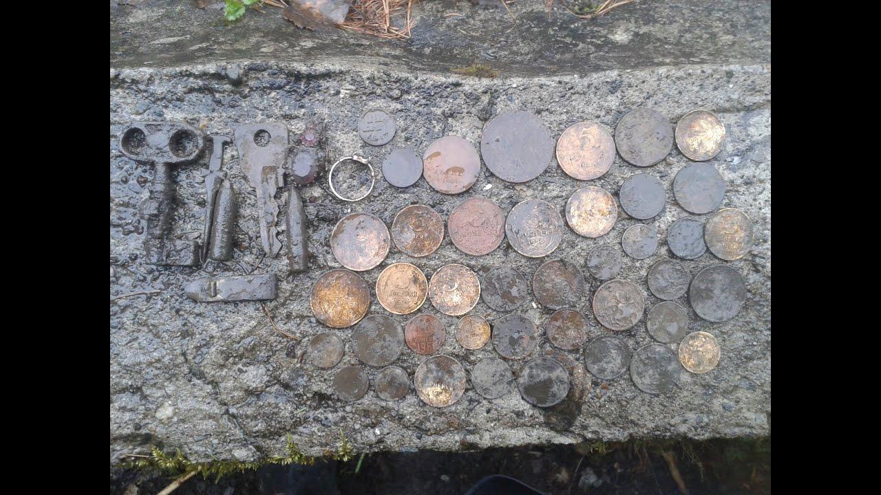 Поиск монет 2015 год. загадочная поляна и первое золото сезо.