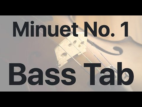 Learn Minuet No. 1 on Bass - How to Play Tutorial