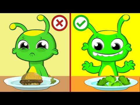 groovy-el-marciano-dibujos-animados-|-groovy-enseña-a-los-niños-a-comer-verduras-saludables