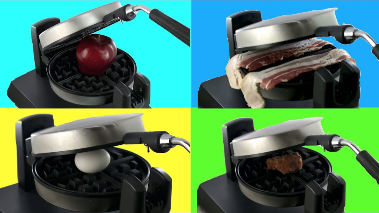 Will It Waffle | Trying To COOK Different FOODS In a WAFFLE MAKER ...