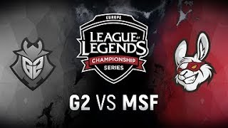 G2 vs. MSF  - Week 1 Day 1 | EU LCS Spring Split |  G2  vs. Misfits (2018)