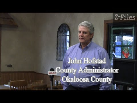 Z FILES Okaloosa County Administrator John Hofstad at Shoal River Republican Club in Crestview