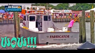 Clam Slam Boat Docking Contest 2015 Cape Charles Eastern Shore Virginia Jim Baugh Outdoors TV