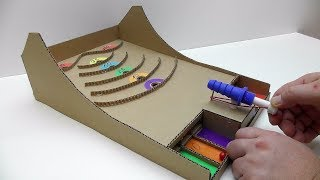 How to make a game with a ball from cardboard Desktop Game from Cardboard