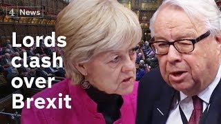 House of Lords debates no-deal Brexit bill as Con/Lab talks continue