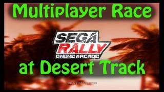SEGA Rally Online Arcade - Multiplayer Race at Desert Track