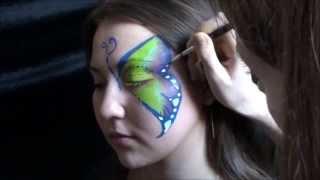Мастер-класс по аквагриму красками Diamond FX - Бабочка