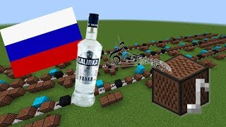 Скачать Minecraft Kalinka Калинка With Note Blocks