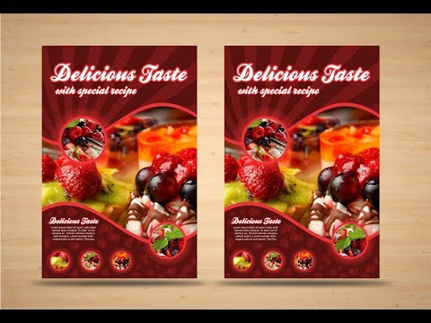 CorelDraw x7 Tutorial- Food Flyer Design With AS GRAPHICS