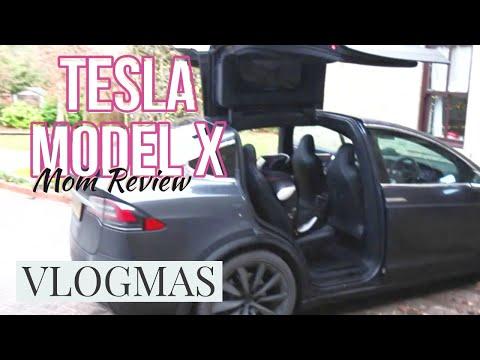 Tesla Model X family car review // VLOGMAS; Mum reviews Tesla Model X