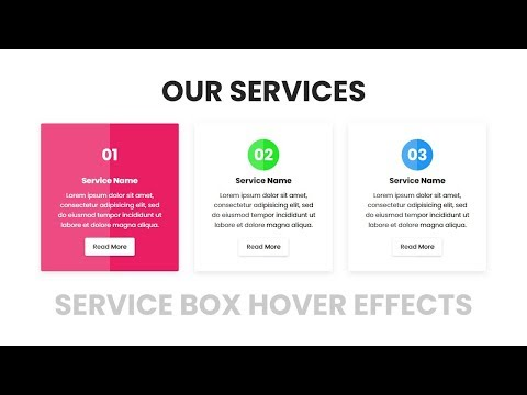 Our Services Box Hover Effects   Html CSS Responsive Design