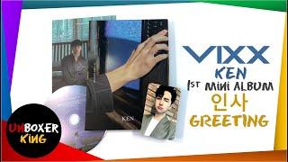 VIXX 빅스 Ken 이재환 1st Mini Album ✨ - 인사 Greetings Album Unboxi…