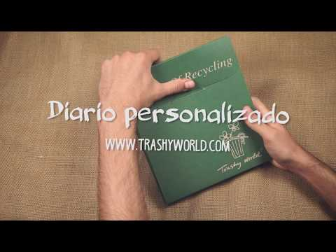 Diario personalizado reciclado - Trashy World