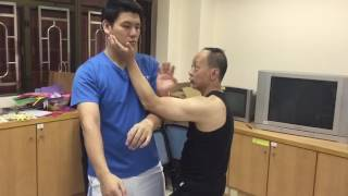 26072016 詠春內門拍手肘封拳打技巧訓練 (Wing Tsun Inner Door Pak Sau with Elbow Blocking and Palm Strike Training)