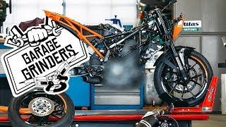 MODIFIED KTM FRAME - DUKE 250   Garage Grinders EP 2