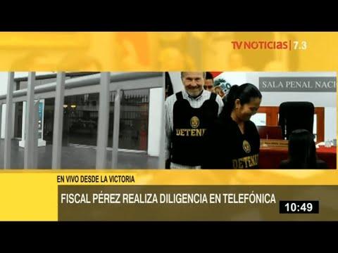 José Domingo Pérez realiza diligencia en Telefónica tras denuncia de trabajadora