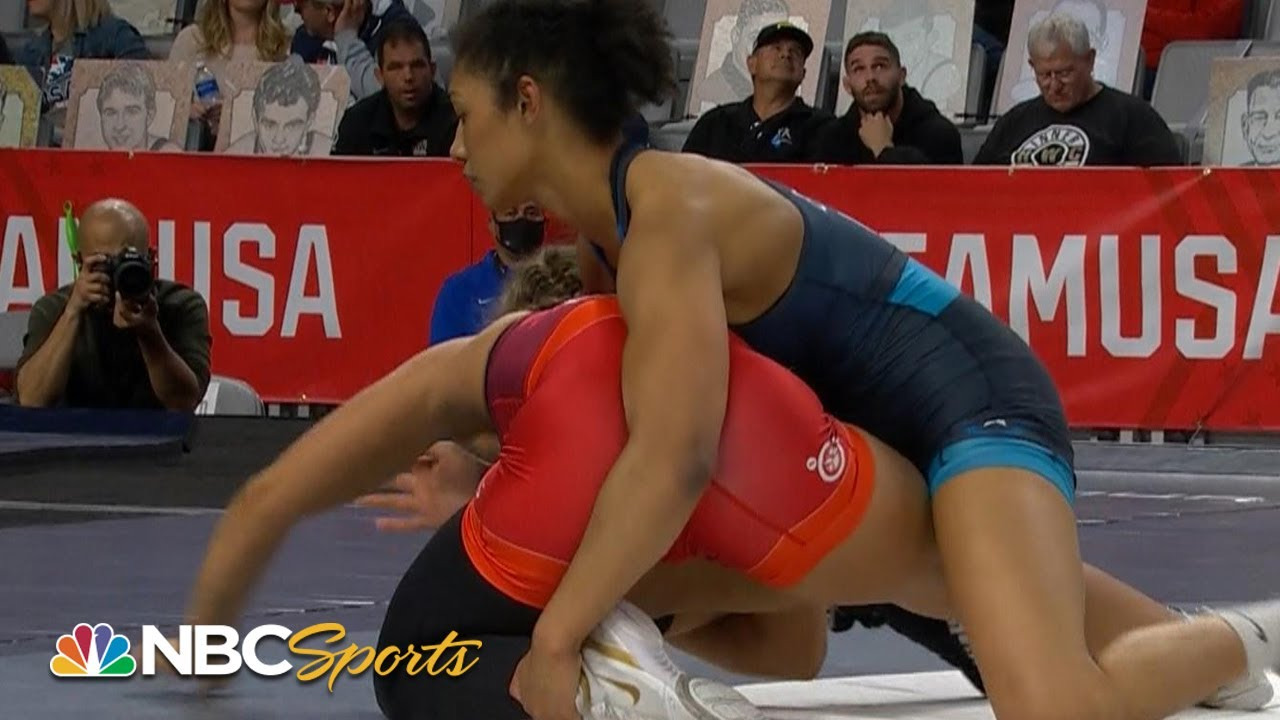 High school junior Kennedy Blades on to Olympic trials finals after stunning win | NBC Sports
