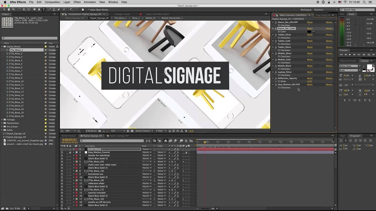 premiumilk tutorial 25 digital signage after effects template youtube. Black Bedroom Furniture Sets. Home Design Ideas