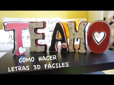 C mo hacer letras decorativas con cart n en elmimimundo - Como hacer letras decorativas ...