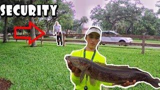 Security Kicks Us Out While Snakehead Fishing! KastKing KastPro Strength Test!