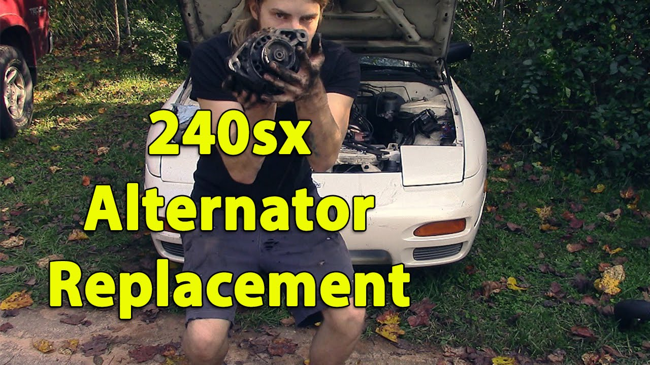 maxresdefault alternator replacement on ka24de 240sx youtube