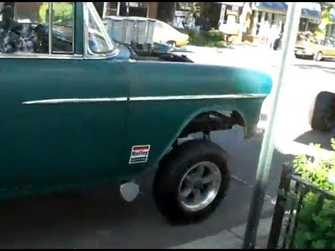 Straight Axle Gasser style 55 Chevy - YouTube