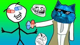 СМЕШНОЕ ВИДЕО ТРОЛЛФЕЙС приключения и странные загадки ТРОЛЛЕЙ Играем Trollface КОТЁНОК ЛАЙК
