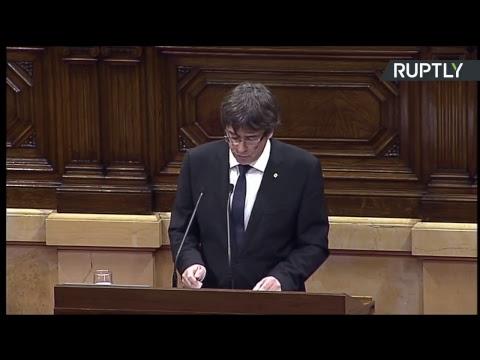 Suivez le discours de Carles Puigdemont devant le Parlement catalan à 19h (Paris)