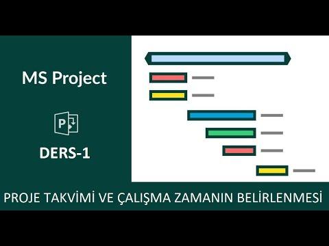 Ms Project - 01 - Proje Zamanı Ve Çalışma Takvimi