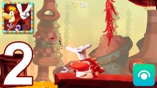 Rayman Fiesta Run - Gameplay Walkthrough Part 2 - Levels 7-12 (iOS, Android)