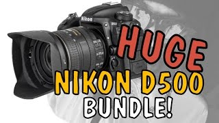 NIKON D500 BUNDLE / NIKON SB5000 / NIKON 16-80 / NIKON 55-330 / Grip / Mantona Hard Case  & MORE!