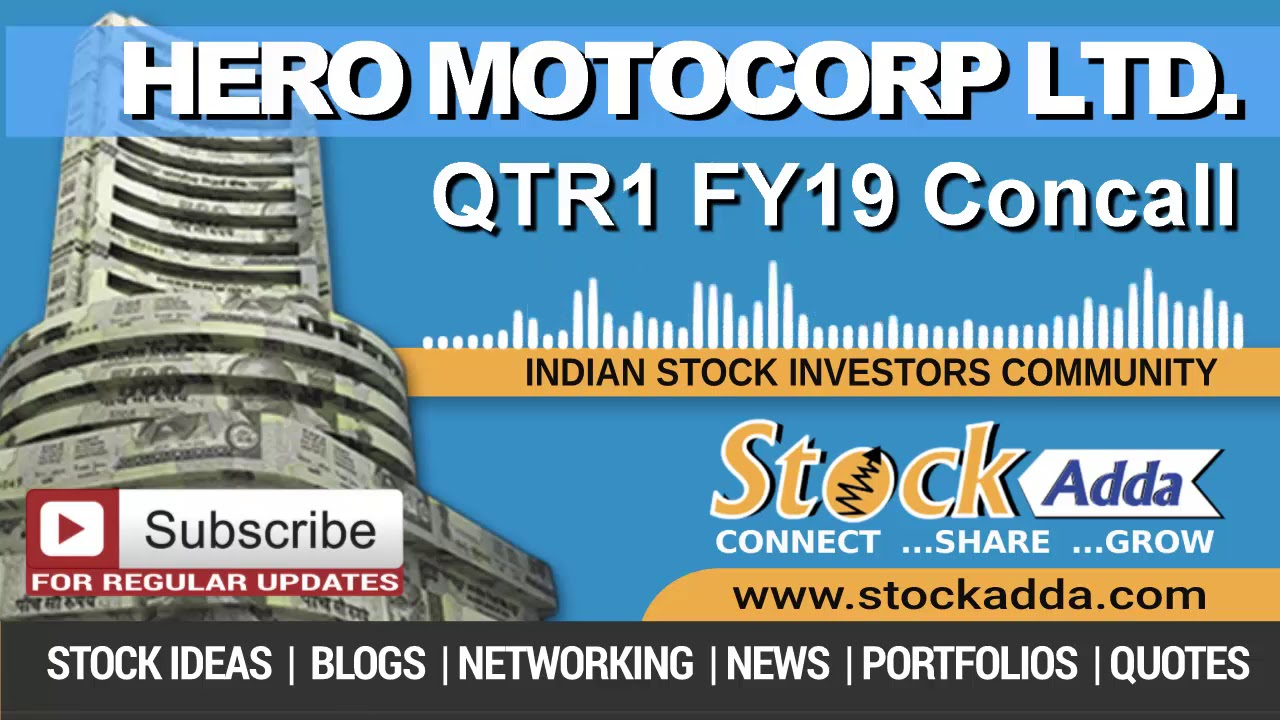 Hero Motocorp Ltd Investors Conference Call Qtr1 FY19