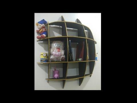 DIY  wall mount shelf/how to make shelves /DIY Cardboard Floating Shelves/ art 4 craft