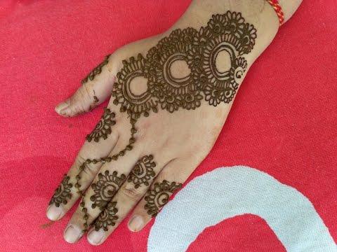 How To Make Heena Mehndi|| Easy||Beautiful Mehndi Designs For Back Hands 2017 Avni Mehndi Arts