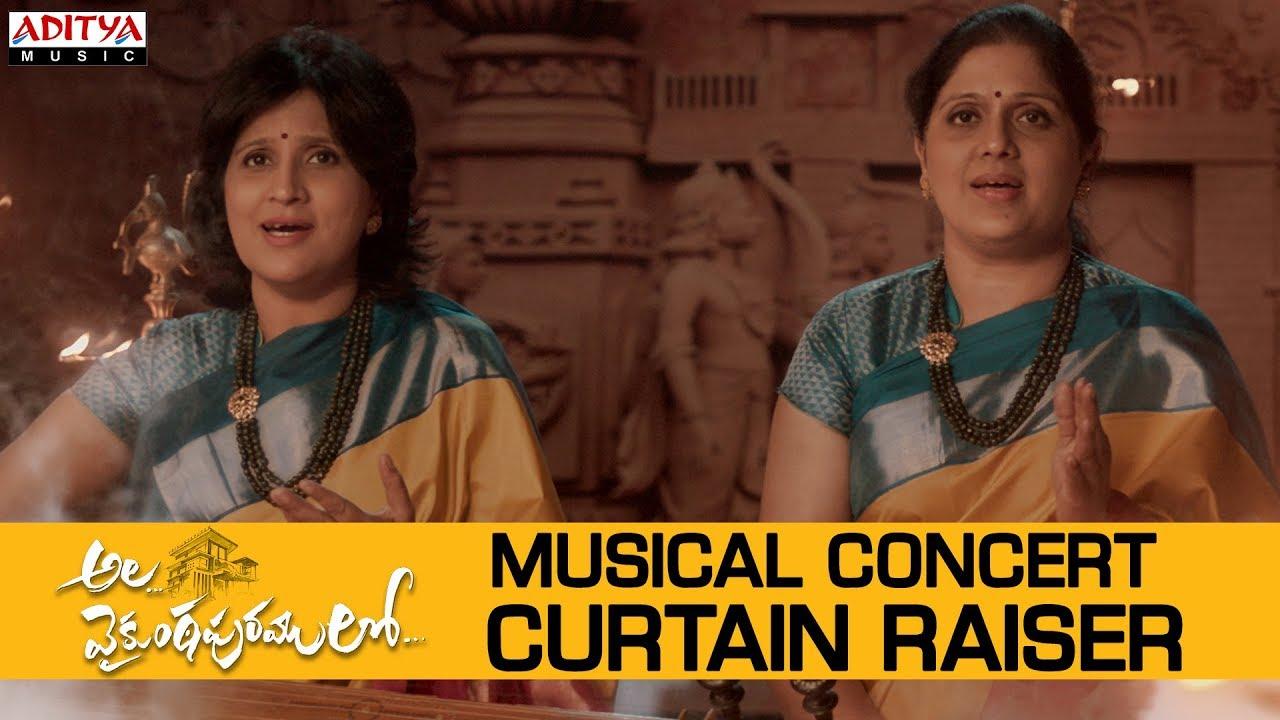 Alavaikunthapurramuloo Musical Concert Curtain Raiser Allu Arjun Trivikram Thaman S Youtube