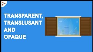 Transparent, Opaque and Translucent objects - CBSE 6