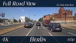 Berlin, Germany: Niederschöneweide - Schnellerstraße, Köpenicker Landstraße - 4K (UHD/2160p/60p)