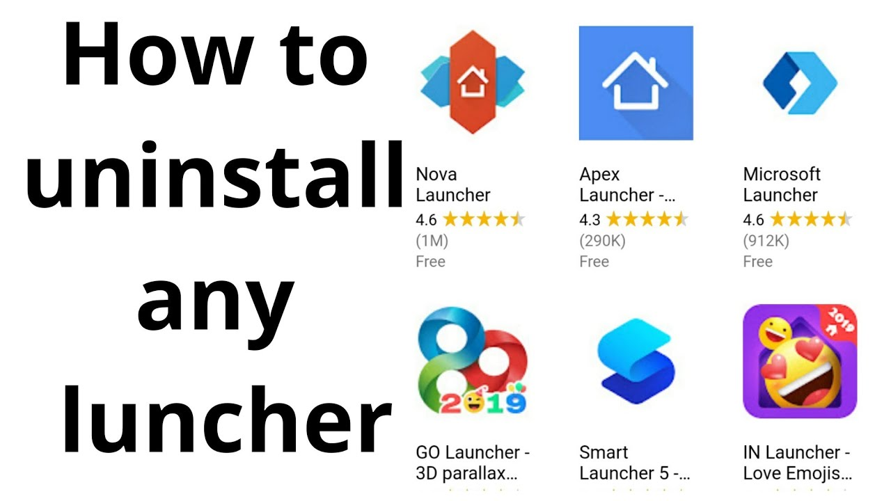 how to uninstall launcher 2019 | uninstall any launcher in android which  blocking uninstall