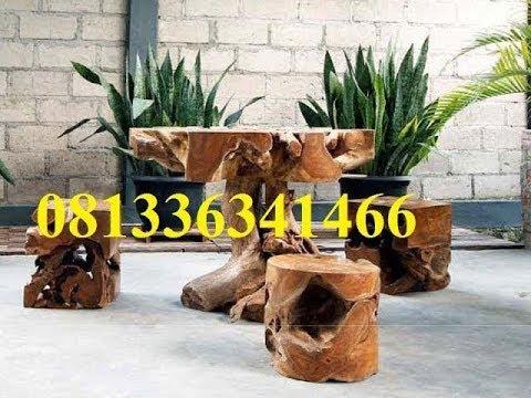 Harga Jual Meja Kursi Akar Kayu Jati Aza Furniture
