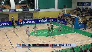 Key moment: Damir Markota with the triple (Krka - Cibona, 10.12.2018)