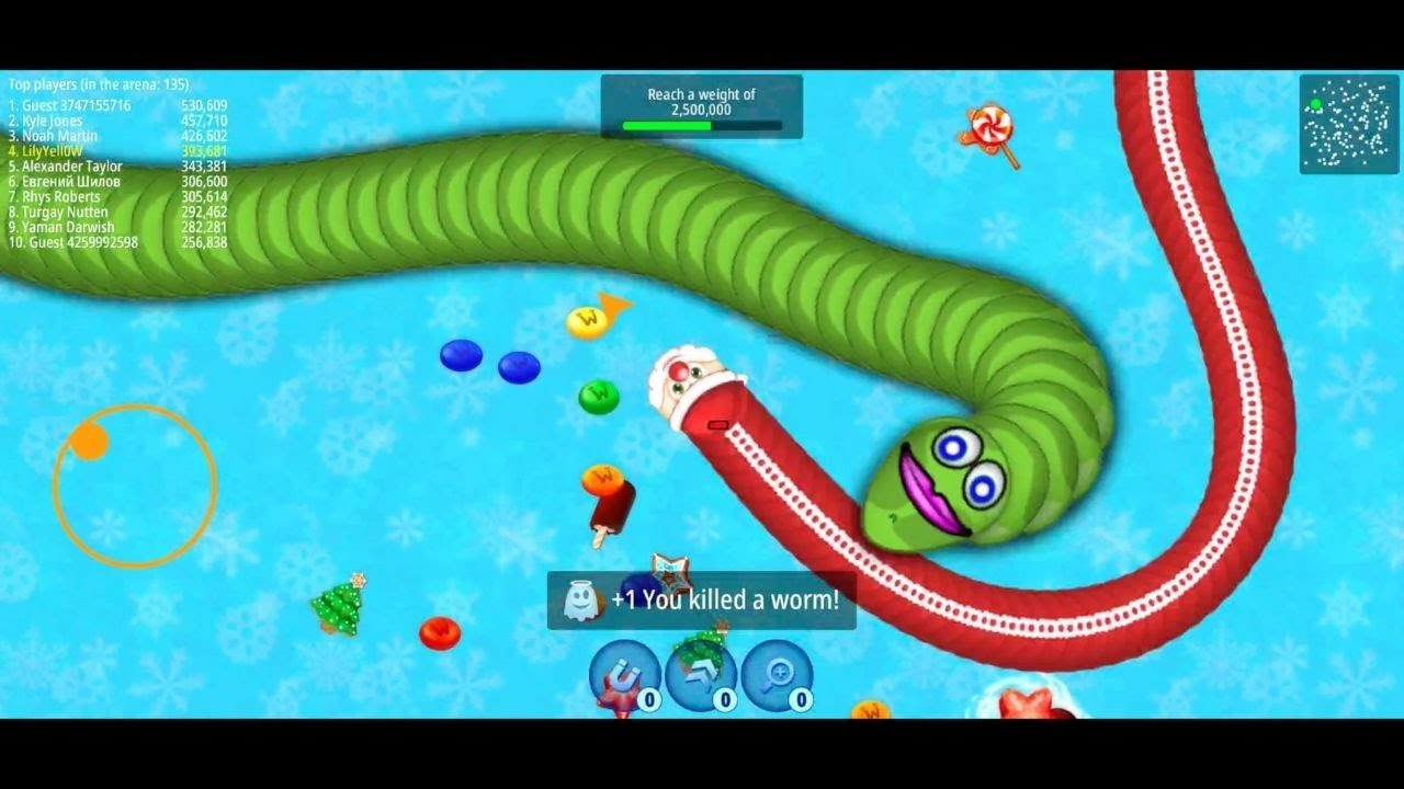 WormsZone.io 001 Best Slither Snake Gameplay Top 01 FAIL WormsZoneio Funny/Best Moments #11