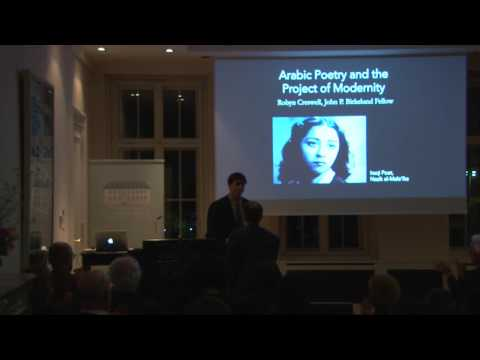 Robyn Creswell: Arabic Poetry and the Project of Modernity