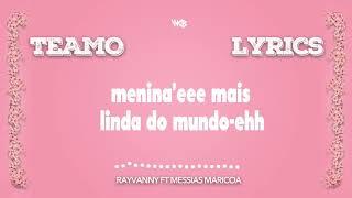 Rayvanny Ft Messias -Teamo Official lyrics