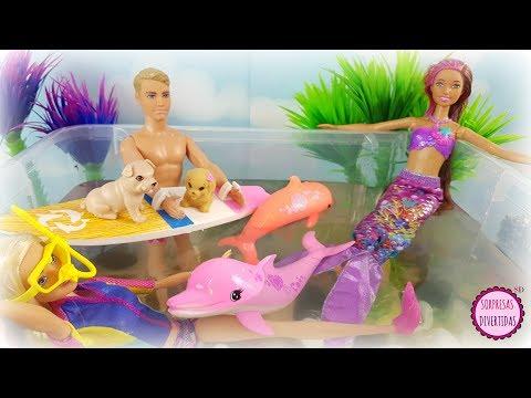 Barbie Delfines Mágicos y Barbie Sirena Nuevos Juguetes y Muñecas de la película en español
